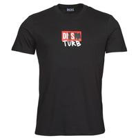 tekstylia Męskie T-shirty z krótkim rękawem Diesel T-DIEGOS-B10 Czarny