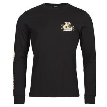 tekstylia Męskie T-shirty z długim rękawem Diesel T-DIEGOS-LS-K27 Czarny