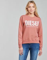 tekstylia Damskie Bluzy Diesel F-ANGS-ECOLOGO Różowy