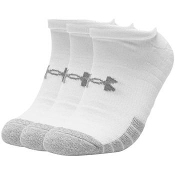 Dodatki Skarpety Under Armour HeatGear No Show Socks 3-Pack Biały