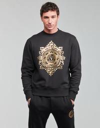 tekstylia Męskie Bluzy Versace Jeans Couture VEMBLEM LEAF Czarny / Złoty