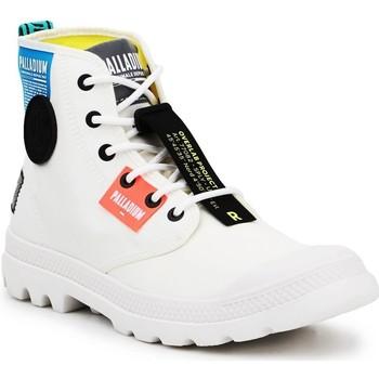 Buty Trampki wysokie Palladium Lite OVB Neon U 77082-116 biały