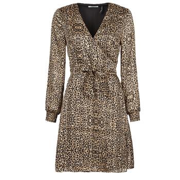 tekstylia Damskie Sukienki krótkie Les Petites Bombes CECILIE Leopard