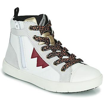 Buty Dziewczynka Trampki wysokie Geox SILENEX Biały