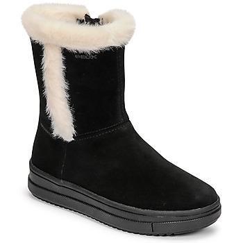 Buty Dziewczynka Kozaki Geox REBECCA Czarny / Biały