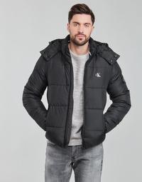 tekstylia Męskie Kurtki pikowane Calvin Klein Jeans ESSENTIALS NON DOWN JACKET Czarny