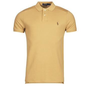 tekstylia Męskie Koszulki polo z krótkim rękawem Polo Ralph Lauren PETRINA Camel