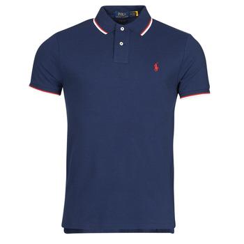 tekstylia Męskie Koszulki polo z krótkim rękawem Polo Ralph Lauren CALMIRA Niebieski