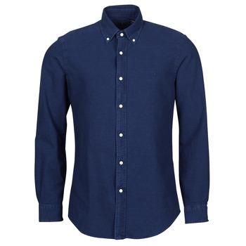 tekstylia Męskie Koszule z długim rękawem Polo Ralph Lauren TRENNYB Velours / Niebieski