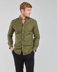 tekstylia Męskie Koszule z długim rękawem Polo Ralph Lauren DRISSY Kaki