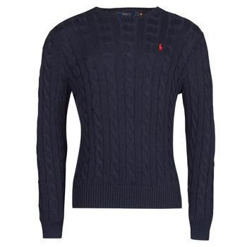 tekstylia Męskie Swetry Polo Ralph Lauren KINNU Niebieski