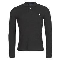 tekstylia Męskie Koszulki polo z długim rękawem Polo Ralph Lauren MOLINA Czarny