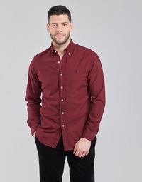 tekstylia Męskie Koszule z długim rękawem Polo Ralph Lauren KAOLMA Bordeaux