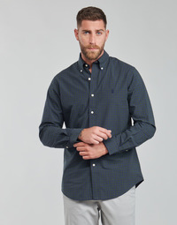 tekstylia Męskie Koszule z długim rękawem Polo Ralph Lauren RENIMA Zielony / Niebieski