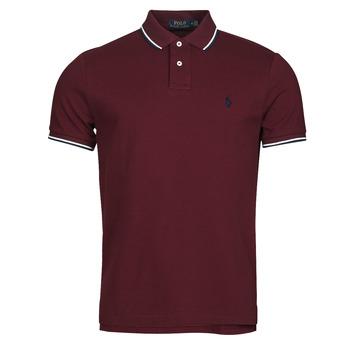 tekstylia Męskie Koszulki polo z krótkim rękawem Polo Ralph Lauren HOULIA Bordeaux