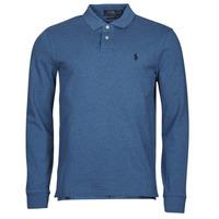 tekstylia Męskie Koszulki polo z długim rękawem Polo Ralph Lauren KETINA Niebieski / Royal