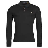 tekstylia Męskie Koszulki polo z długim rękawem Polo Ralph Lauren PERINA Czarny