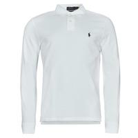 tekstylia Męskie Koszulki polo z długim rękawem Polo Ralph Lauren GIULIA Biały