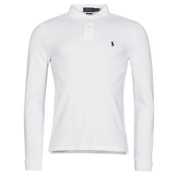 tekstylia Męskie Koszulki polo z długim rękawem Polo Ralph Lauren TREKINA Biały