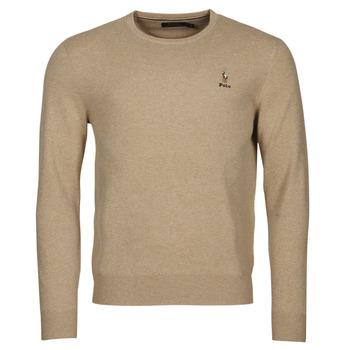 tekstylia Męskie Swetry Polo Ralph Lauren SOLIMMA Camel