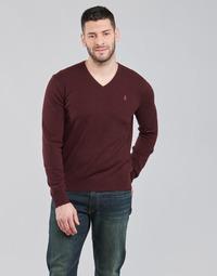 tekstylia Męskie Swetry Polo Ralph Lauren SOLIMMA Bordeaux
