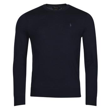 tekstylia Męskie Swetry Polo Ralph Lauren AMIRAL Niebieski