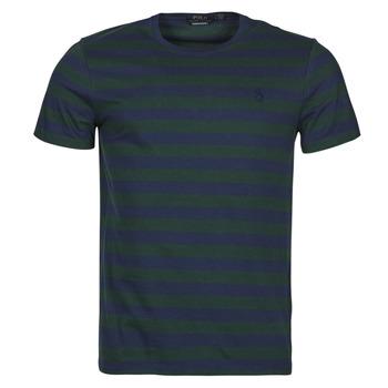 tekstylia Męskie T-shirty z krótkim rękawem Polo Ralph Lauren POLINE Marine / Zielony
