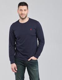 tekstylia Męskie T-shirty z długim rękawem Polo Ralph Lauren DRENNI Marine
