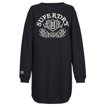 tekstylia Damskie Sukienki krótkie Superdry PRIDE IN CRAFT OS CREW DRESS Niebieski