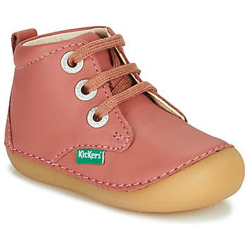 Buty Dziewczynka Buty za kostkę Kickers SONIZA Różowy