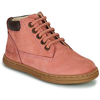 Buty Dziewczynka Buty za kostkę Kickers TACKLAND Różowy