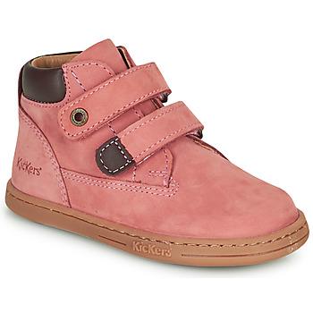 Buty Dziewczynka Buty za kostkę Kickers TACKEASY Różowy