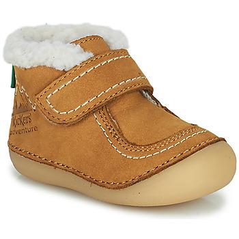 Buty Dziewczynka Buty za kostkę Kickers SOMOONS Camel