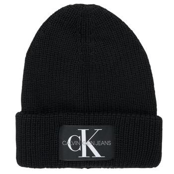 Dodatki Męskie Czapki Calvin Klein Jeans MONOGRAM BEANIE WL Czarny