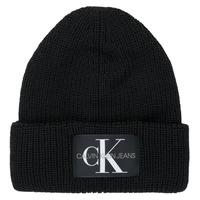 Dodatki Damskie Czapki Calvin Klein Jeans MONOGRAM BEANIE WL Czarny