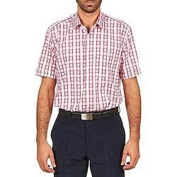 tekstylia Męskie Koszule z krótkim rękawem Pierre Cardin CH MC CARREAU GRAPHIQUE Biały / Czerwony