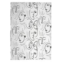 Dom Dywany The home deco factory ARTY White-black