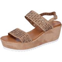 Buty Damskie Sandały Femme Plus BJ895 Brązowy