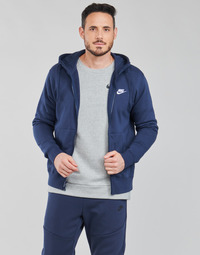 tekstylia Męskie Bluzy Nike NIKE SPORTSWEAR CLUB FLEECE Niebieski / Marine / Biały