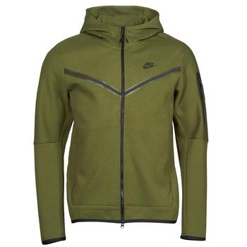 tekstylia Męskie Bluzy dresowe Nike NIKE SPORTSWEAR TECH FLEECE Zielony / Czarny