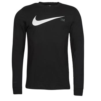 tekstylia Męskie T-shirty z długim rękawem Nike M NSW TEE LS GRX TEE Czarny