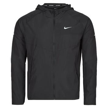 tekstylia Męskie Kurtki wiatrówki Nike M NK RPL MILER JKT Czarny / Srebrny