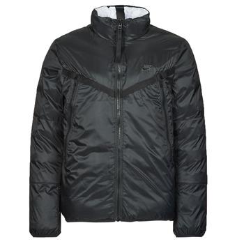 tekstylia Męskie Kurtki pikowane Nike M NSW TF RPL REVIVAL REV JKT Czarny / Szary
