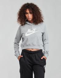 tekstylia Damskie Bluzy Nike NIKE SPORTSWEAR ESSENTIAL Szary / Biały