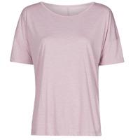 tekstylia Damskie T-shirty z krótkim rękawem Nike NIKE YOGA Fioletowy