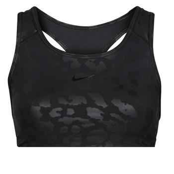 tekstylia Damskie Biustonosze Nike W NP DF SWSH LEPARD SHINE BRA Czarny