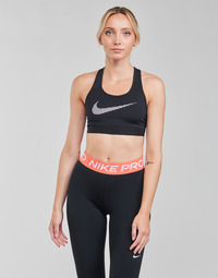 tekstylia Damskie Biustonosze Nike W NK DF SWSH ICNCLSH GX BRA Czarny / Biały