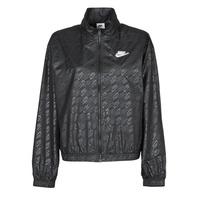 tekstylia Damskie Kurtki wiatrówki Nike W NSW WVN GX JKT FTRA Czarny / Biały