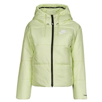 tekstylia Damskie Kurtki pikowane Nike W NSW TF RPL CLASSIC TAPE JKT Zielony / Czarny / Biały