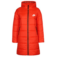 tekstylia Damskie Kurtki pikowane Nike W NSW TF RPL CLASSIC HD PARKA Czerwony / Czarny / Biały